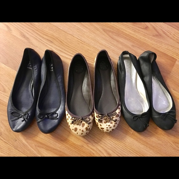 a294a7bc9069 Tory Burch J Crew   Saks 5th Ave Leather Flats 6M